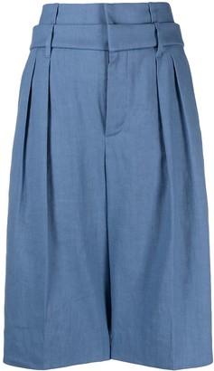 Brunello Cucinelli High-Rise Pleated Bermuda Shorts