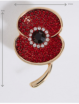 M&S Collection The Poppy Collection® Sparkle Poppy Brooch