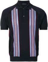 Prada striped knitted polo shirt
