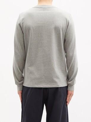 Ami De Cur-logo Cotton-jersey T-shirt - Grey