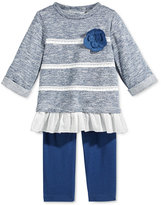 First Impressions 2-Pc. Marled Tunic & Leggings Set, Baby Girls (0-24 months), Only at Macy's