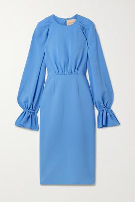 Roksanda Vaniria Gathered Cady Dress - Azure