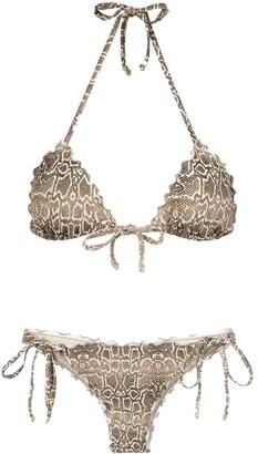 AMIR SLAMA Python Print Bikini Set