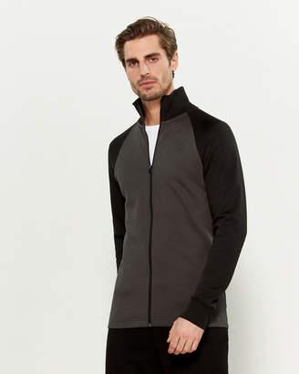 G Star Raw Color Block Raglan Long Sleeve Zip-Up Jacket