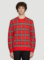 Burberry Check Cashmere Sweater in Red