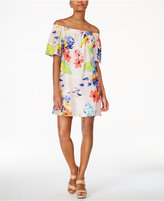 Trina Turk Savilla Cotton Off-The-Shoulder Shift Dress