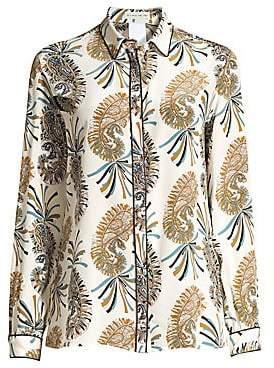 Etro Women's Paisley Silk Button-Down Shirt