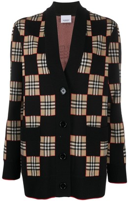 Burberry Paislee checked cardigan