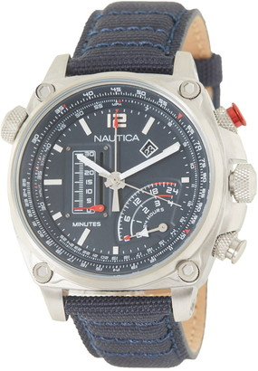 Nautica Men's Millrock Chronograph Canvas Watch, 47mm