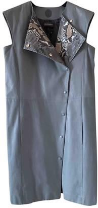 Trussardi Grey Leather Knitwear for Women