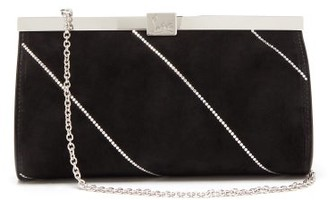 Christian Louboutin Palmette Crystal-embellished Suede Cross-body Bag - Black Multi