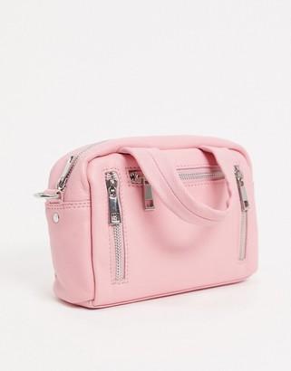 Nunoo mini Donna cross body bag in smooth pink