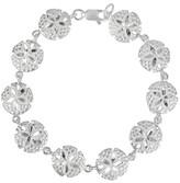 "Journee Collection Women's Sand Dollar Charm Bracelet in Sterling Silver - Silver (7"")"