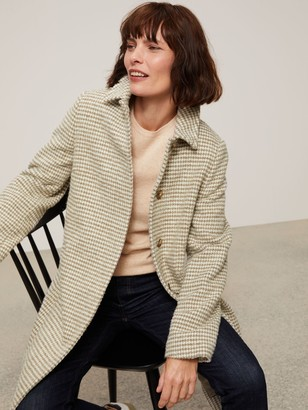 John Lewis & Partners Dogtooth A-Line Wool Blend Coat