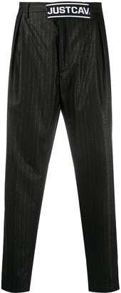 Just Cavalli Pinstriped Tapered Trousers