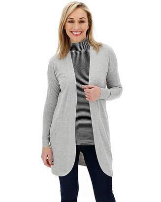 Marisota Light Grey Marl Kangaroo Cardigan