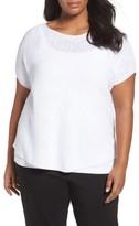 Eileen Fisher Plus Size Women's Organic Linen & Cotton Rib Sweater