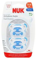 NUK Orthodontic Silicone Sports Pacifier Soccer Ball 2 Pack Size 3