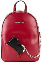 Love Moschino small heart chain backpack