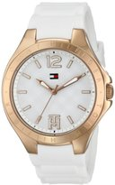 Tommy Hilfiger Women's 1781383 Analog-Display Watch with Rose-Gold Bezel