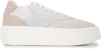 MM6 MAISON MARGIELA Suede Panel Flatform Sneakers