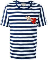 Gucci heart dagger striped T-shirt - men - Cotton - M