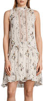 AllSaints Mina Buttercup Dress, Pale Pink