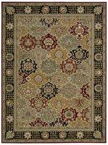 Nourison PC004-099446178732 Persian Crown (PC004) Black Rectangle Area Rug