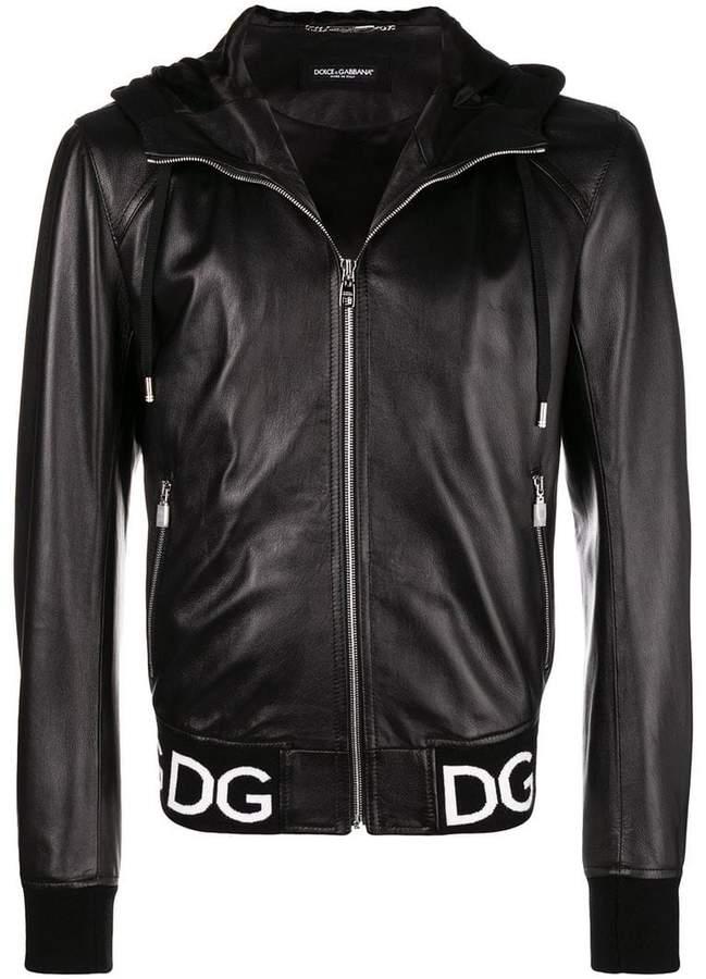 Dolce & Gabbana logo waistband jacket