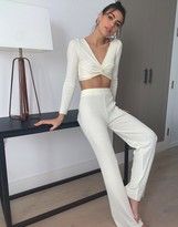 Asos DESIGN Lounge co-ord knitted wide leg pants