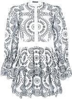 Alexander McQueen broderie anglaise poplin dress