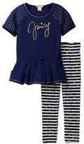 Juicy Couture Studded Tunic & Legging Set (Big Girls)