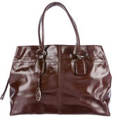 Tod's Glazed Pebbled Leather Handle Bag