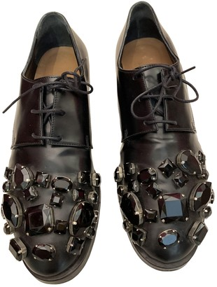 Coliac Black Leather Lace ups