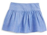 Milly Minis Toddler Girl's Chambray Flare Skirt