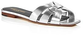 Saint Laurent Women's Metallic Slide Sandals
