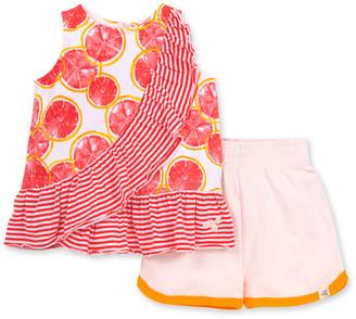 Burt's Bees Watercolor Grapefruit Organic Baby Tank Top & Shorts Set