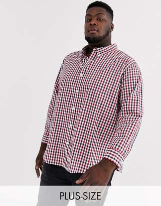 Levi's PLUS classic pocket shirt-Red
