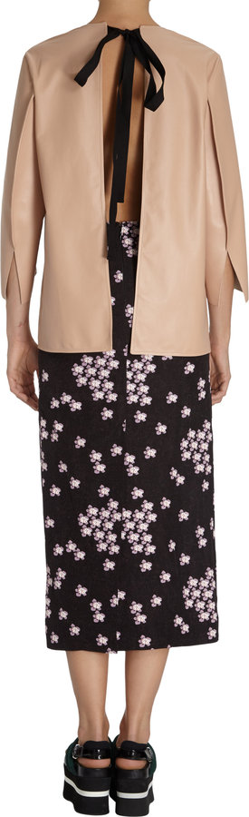 Marni Tie-back Leather Top