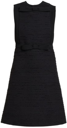 Giambattista Valli Bow Front Sleeveless Tweed Dress