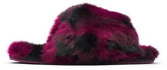 Sorel Go Mail Run Faux Fur-Lined Suede Slippers