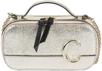 Chloé Logo Plaque Chain Strap Shoulder Bag
