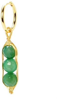 I'mmany London Garden Peas Single Earring Green Chrysoprase