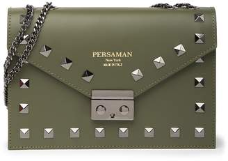 Persaman New York Angelita Leather Studded Shoulder Bag