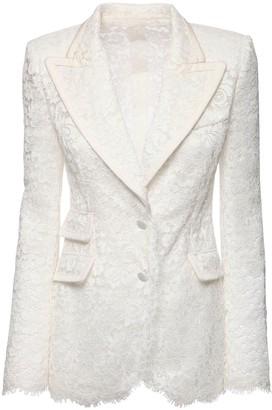 Dolce & Gabbana Sheer Lace Single Breast Jacket