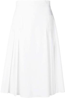 Rochas High Waisted Pleated Skirt