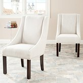 Safavieh Mercer Collection Felix Beige Polyester Sloping Arm Dining Chair, Set of 2