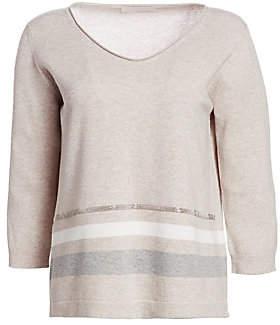 Fabiana Filippi Women's Virgin Wool, Silk & Cashmere V-Neck Sweater