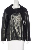 Jil Sander Leather Short Coat