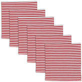 MIX MONSTERS Peppermint Stripe Set of 6 Napkins